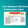 Cara Membuat Sim Online di Kabupaten Lebak